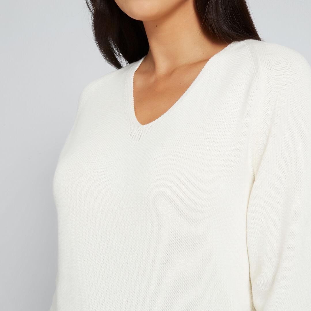 V Neck Cosy Sweater  FRENCH VANILLA  hi-res