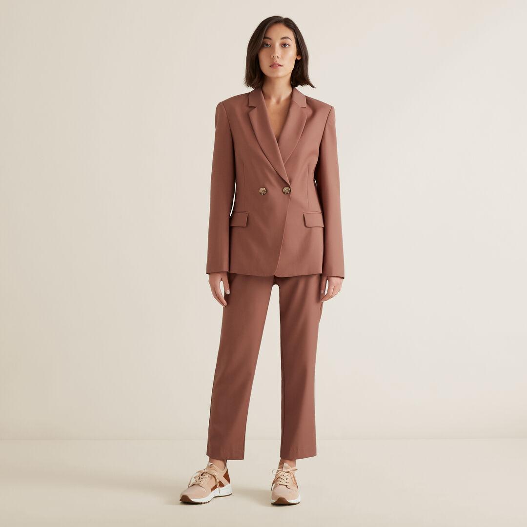 Wool Blend Blazer  WASHED ROSE  hi-res