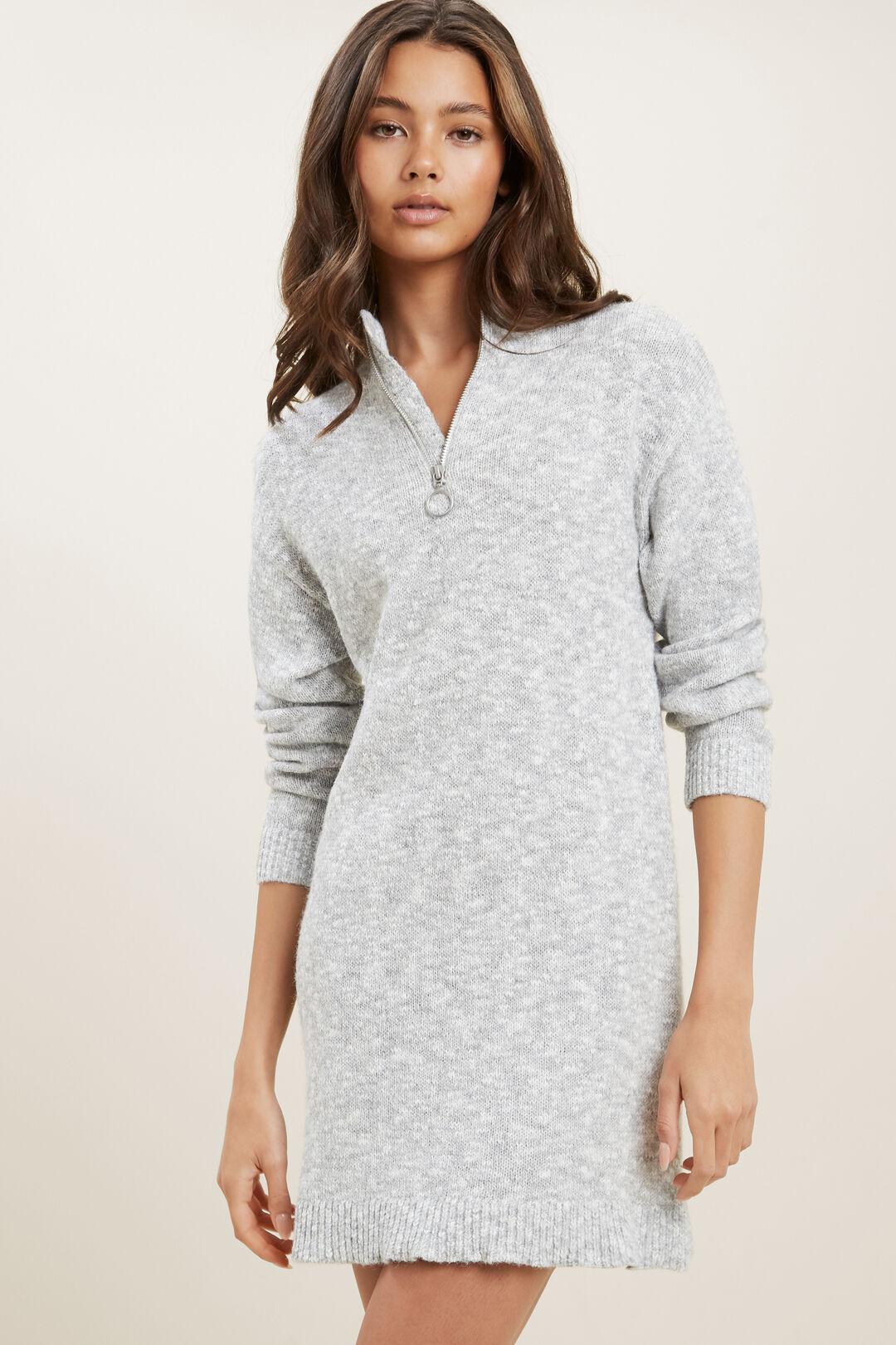 Knit Long Sleeve Dress  CLOUD  hi-res