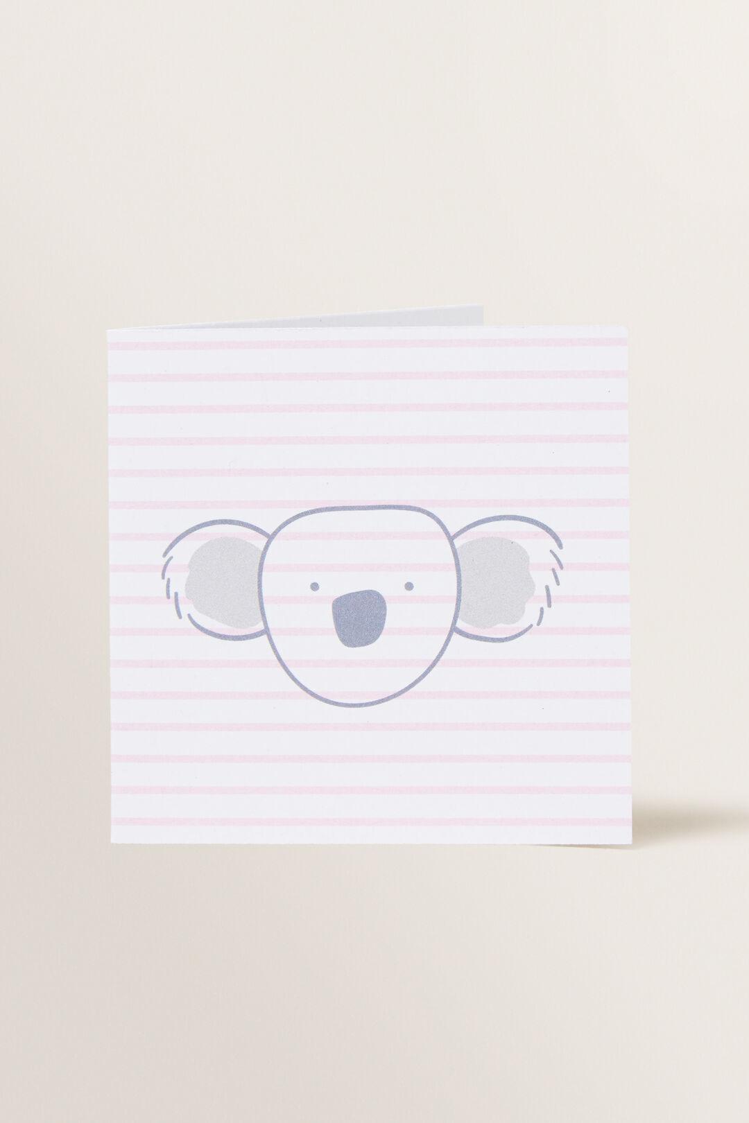 Small Pink Koala Card  MULTI  hi-res