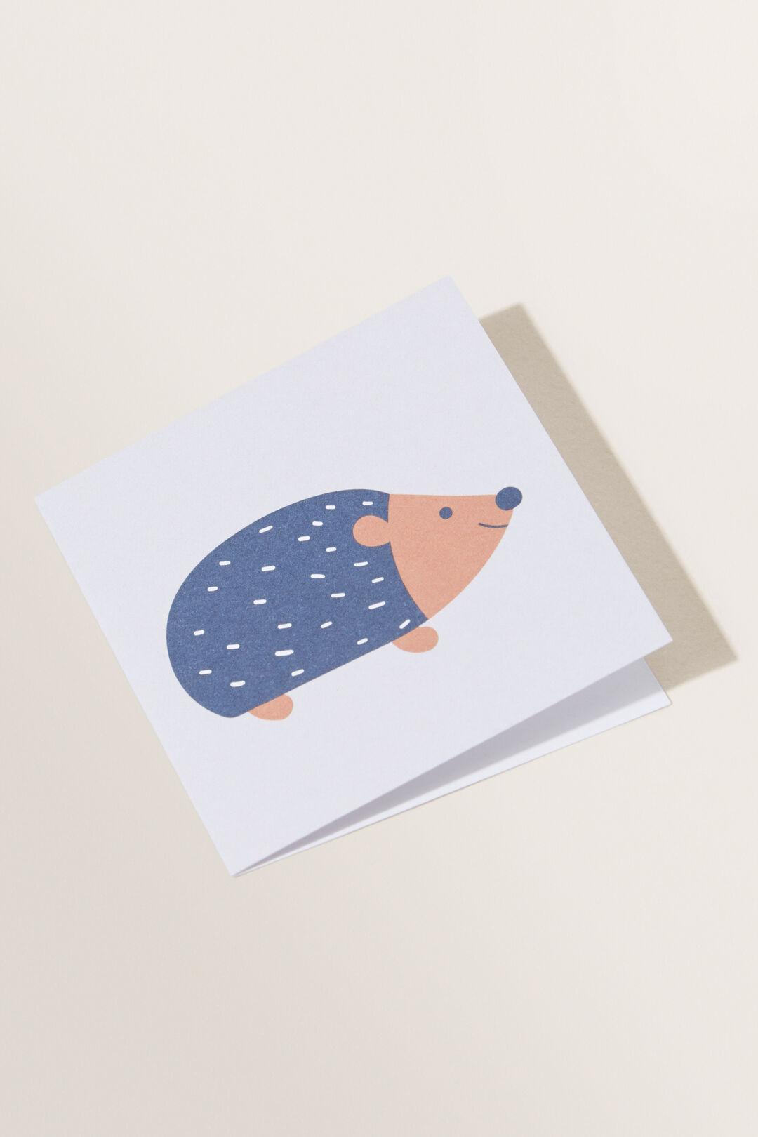 Small Hedgehog Card  MULTI  hi-res