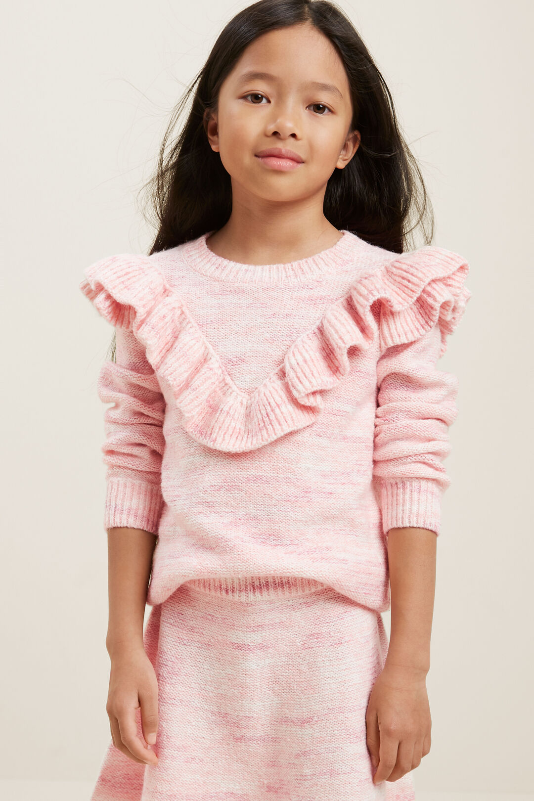 Frill Knit  BERRY  hi-res
