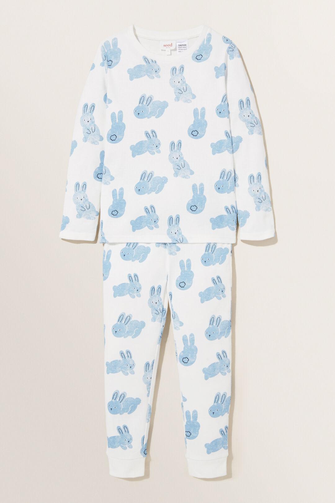 Blue Bunny Long Sleeve  Pyjamas  ARCTIC BLUE  hi-res