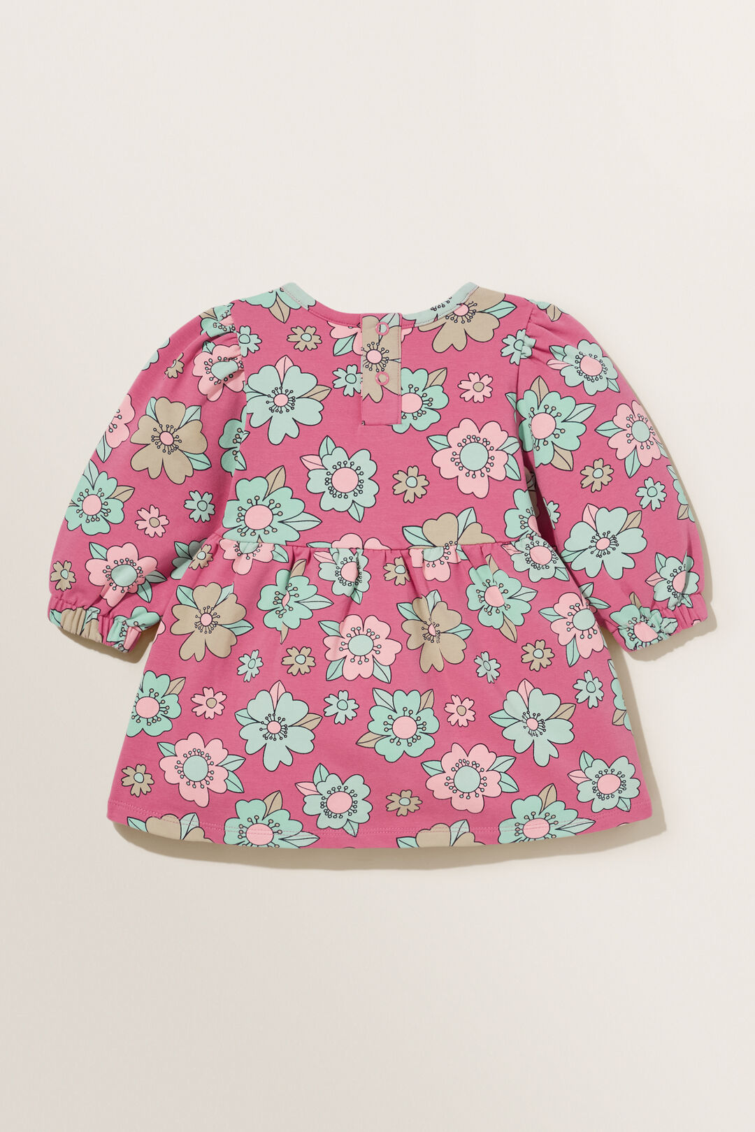 Floral Sweater Dress  BERRY  hi-res