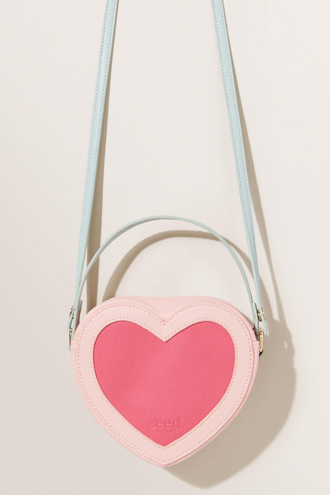 Colour Block Love Heart Bag  MULTI  hi-res
