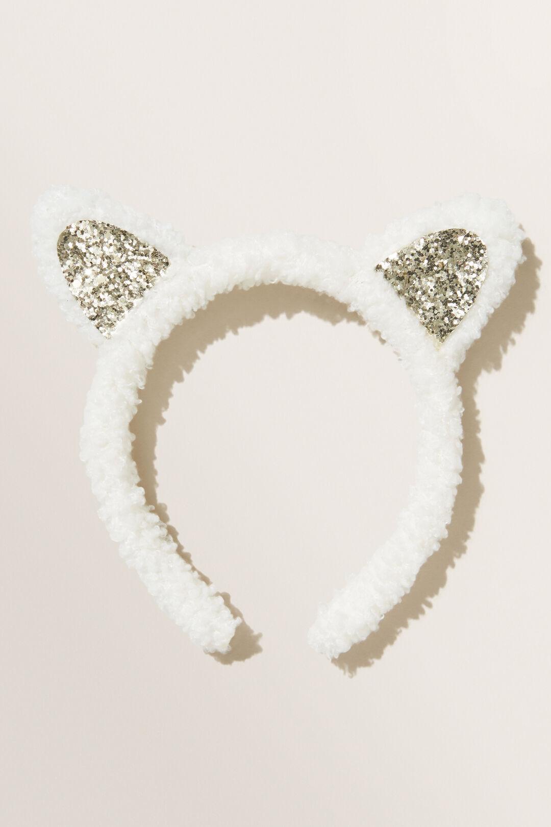 Faux Fur Ears Headband  VINTAGE WHITE  hi-res