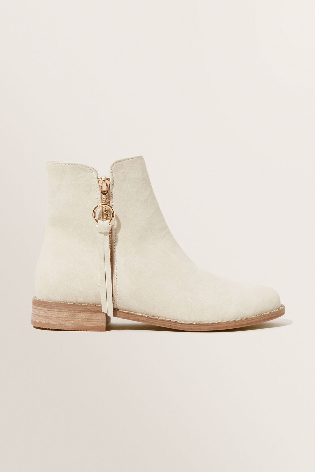 Tassel Zip Boot  STONE  hi-res