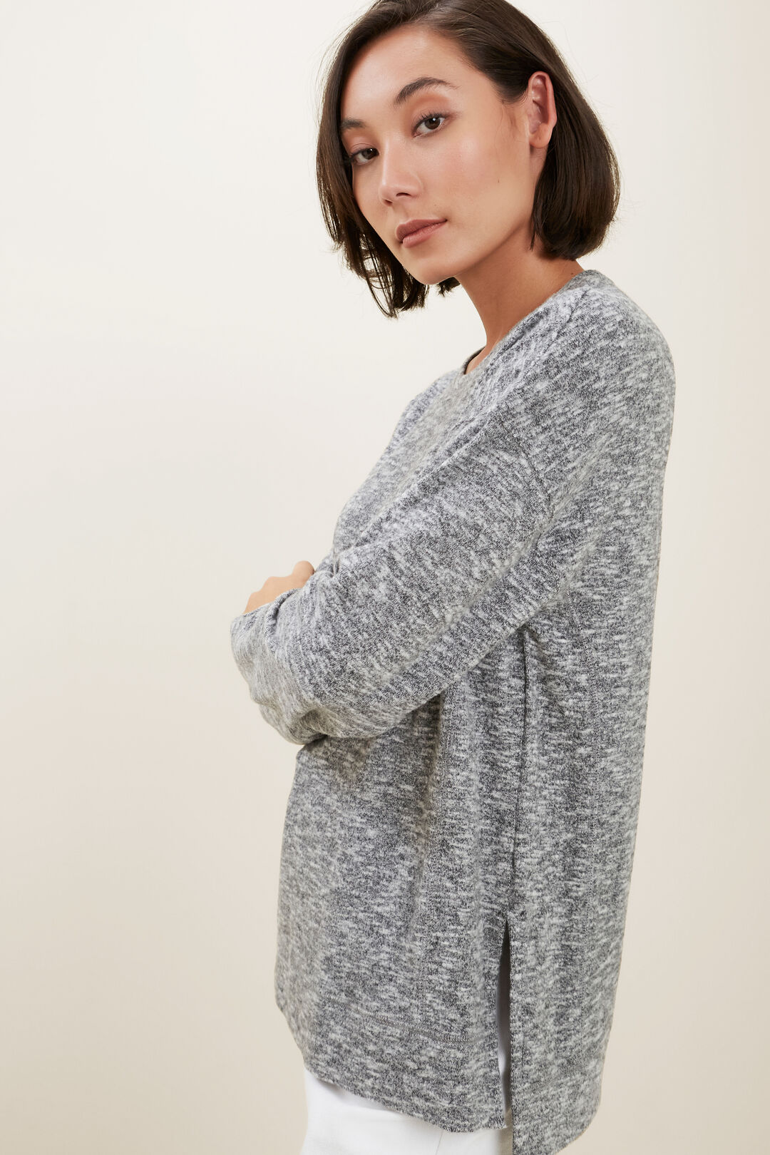 Supersoft  Sweater  SHADOW GREY MARLE  hi-res
