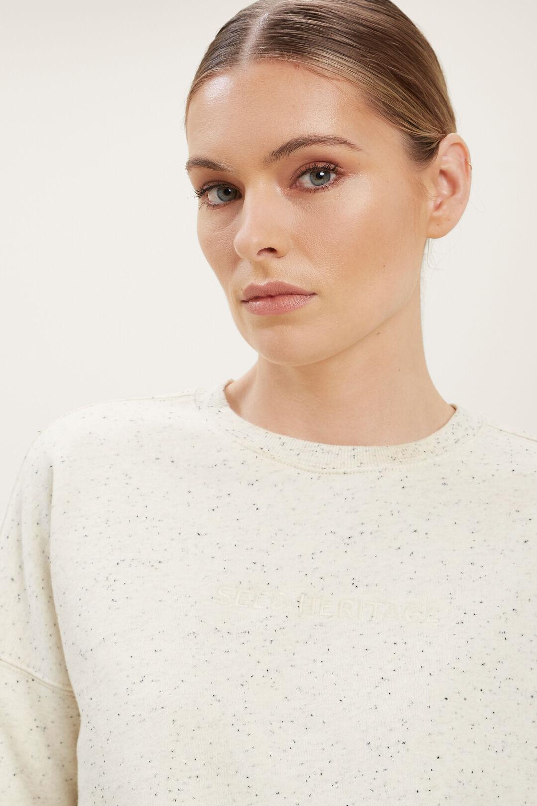 Heritage Logo Sweater  FRENCH VANILLA FLECK  hi-res