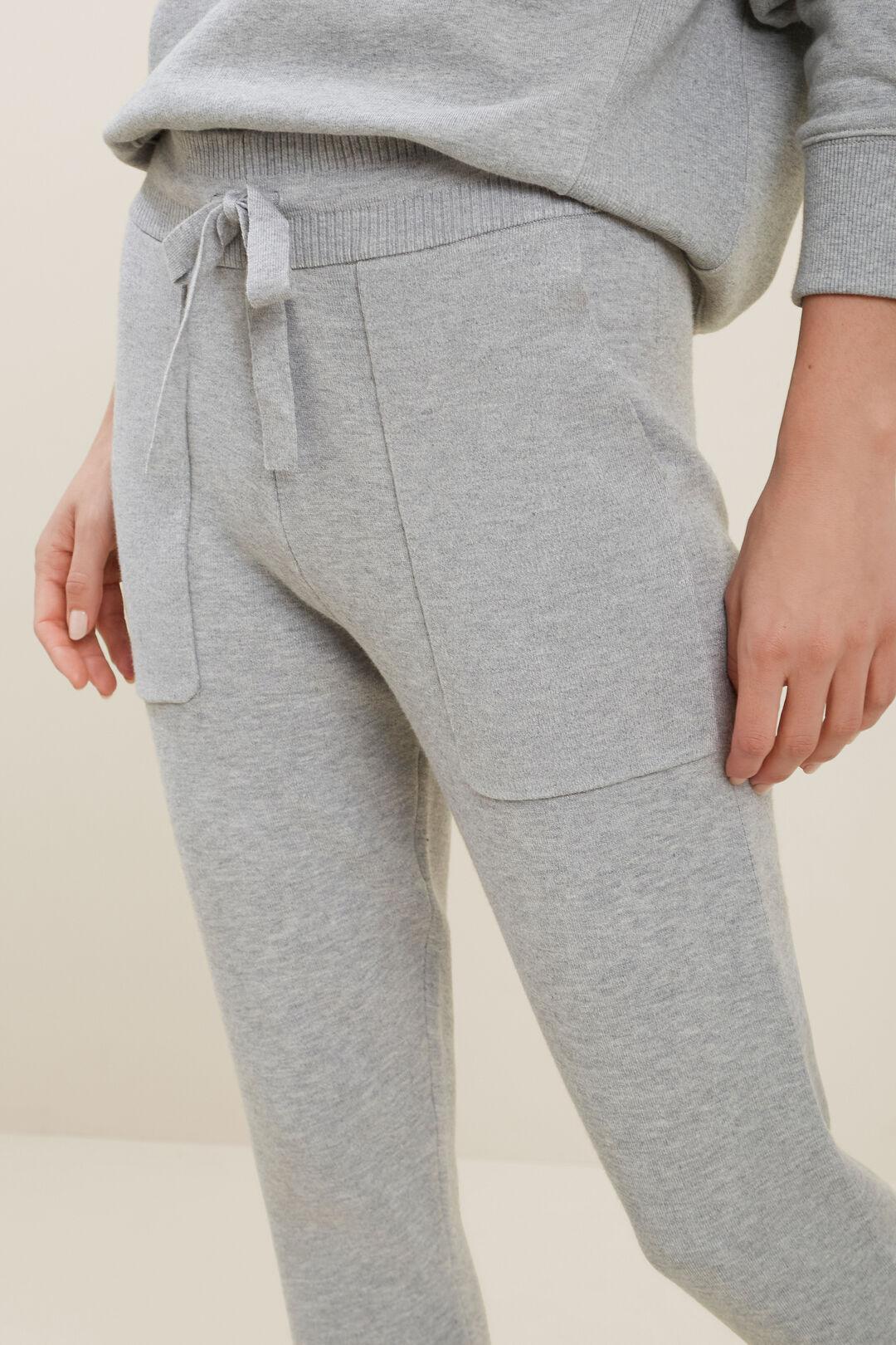 Knitted Marle Trackpants  DIM GREY MARLE  hi-res