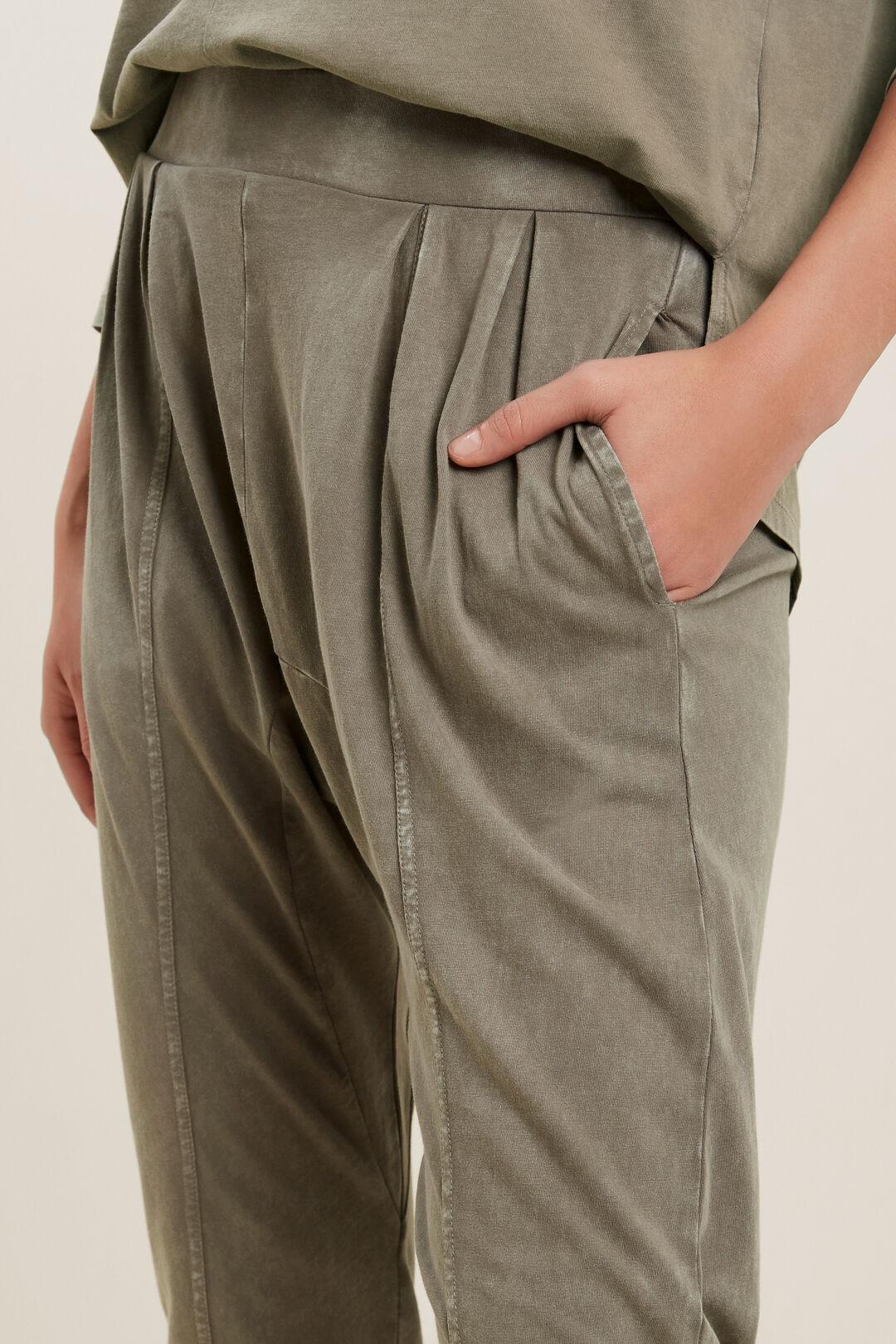 Vintage Wash Harem Pants  OLIVE VINTAGE WASH  hi-res