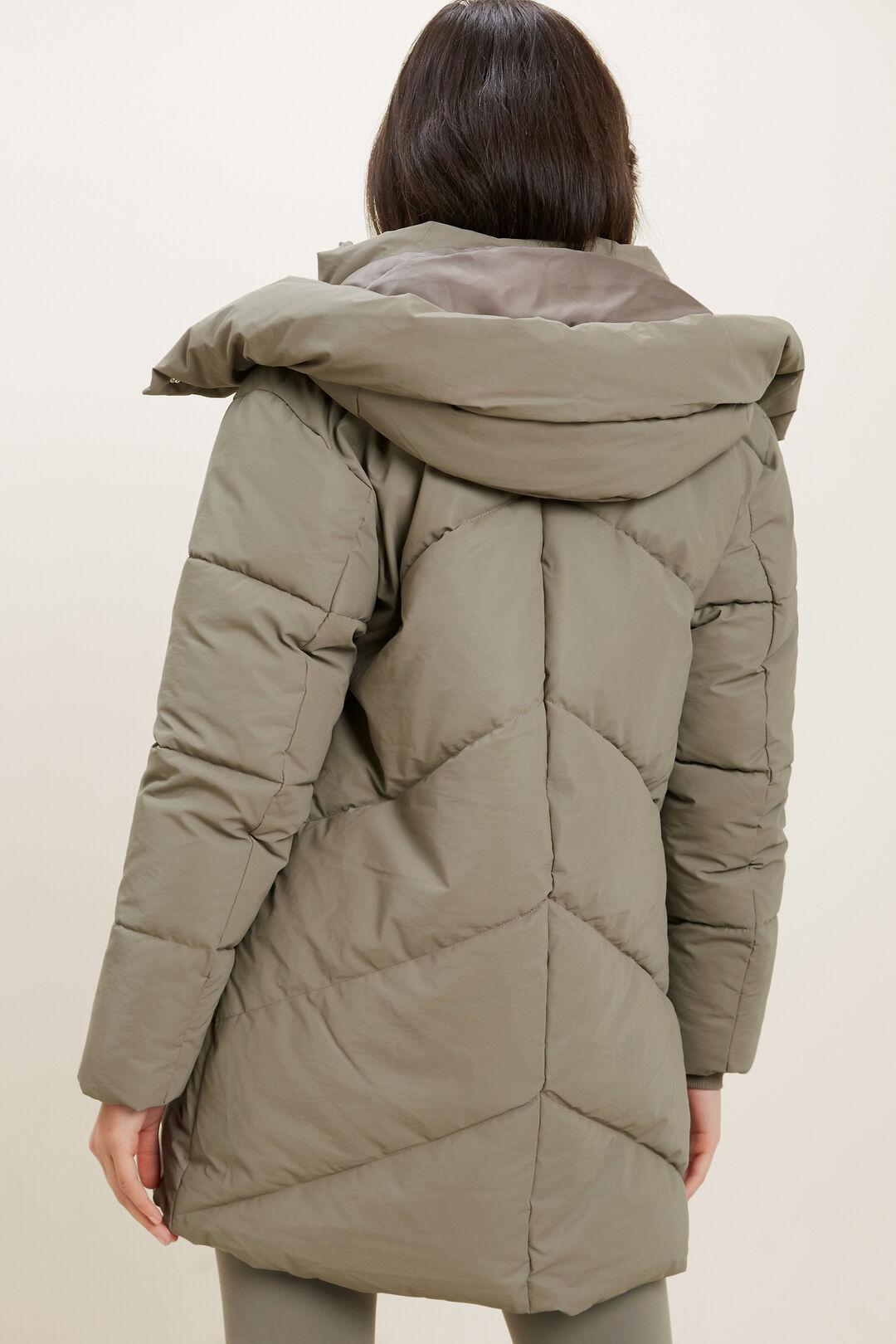 Mid Length Puffer Jacket  OLIVE KHAKI  hi-res