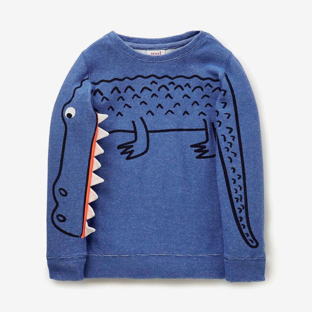 Novelty Sleeve Sweater  NIAGARA BLUE  hi-res