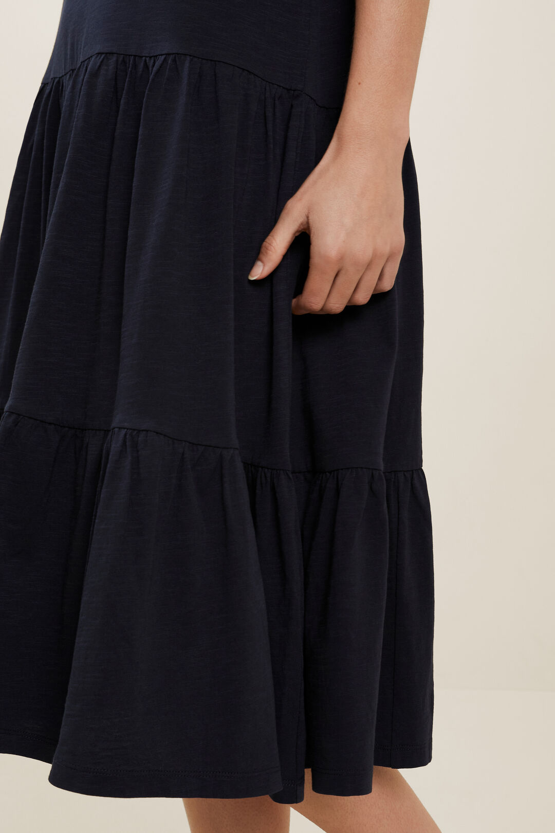 Jersey Tiered Midi Dress  DEEP NAVY  hi-res