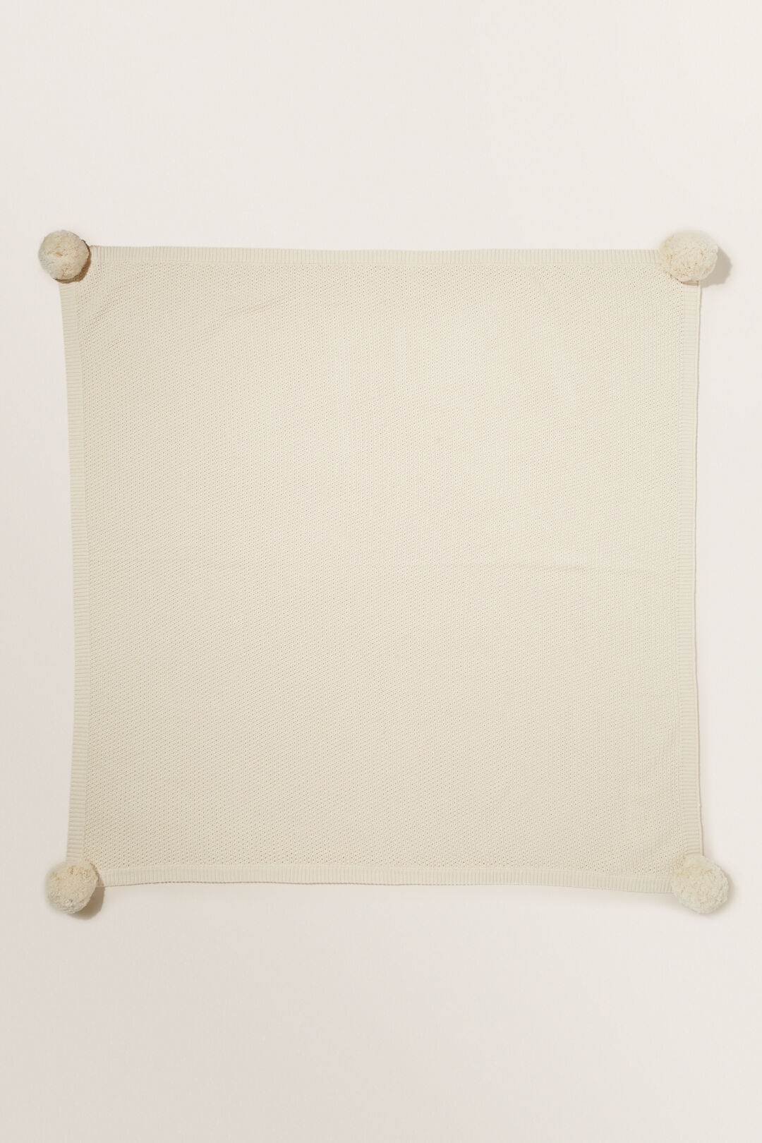 Knitted Blanket  RICH CREAM  hi-res