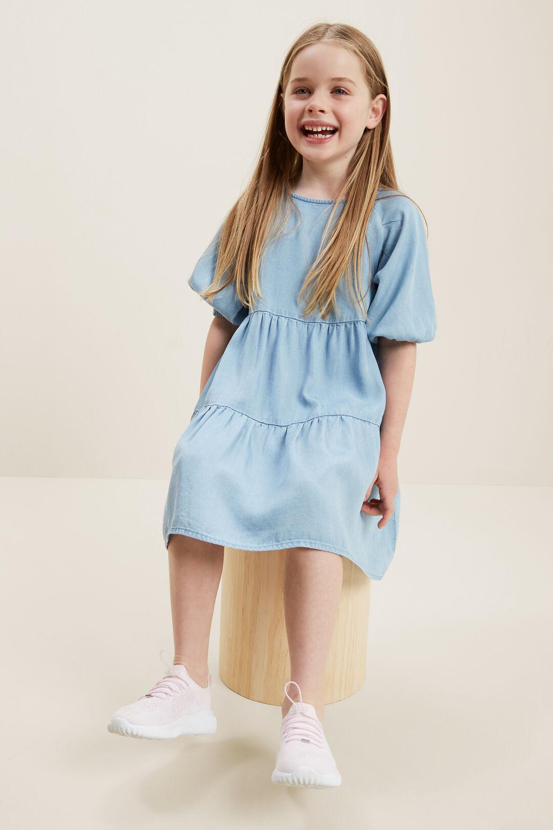 Denim Dress  BLEACHED BLUE  hi-res