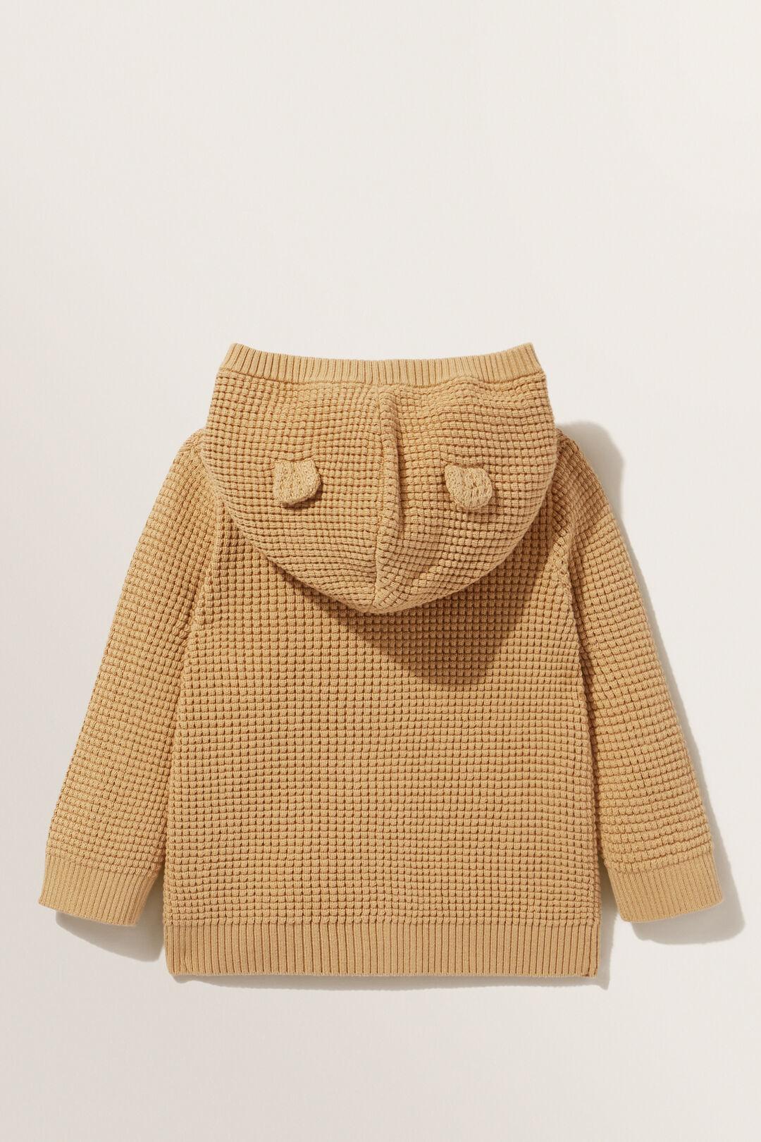 Waffle Stitch Cardigan  CAMEL  hi-res