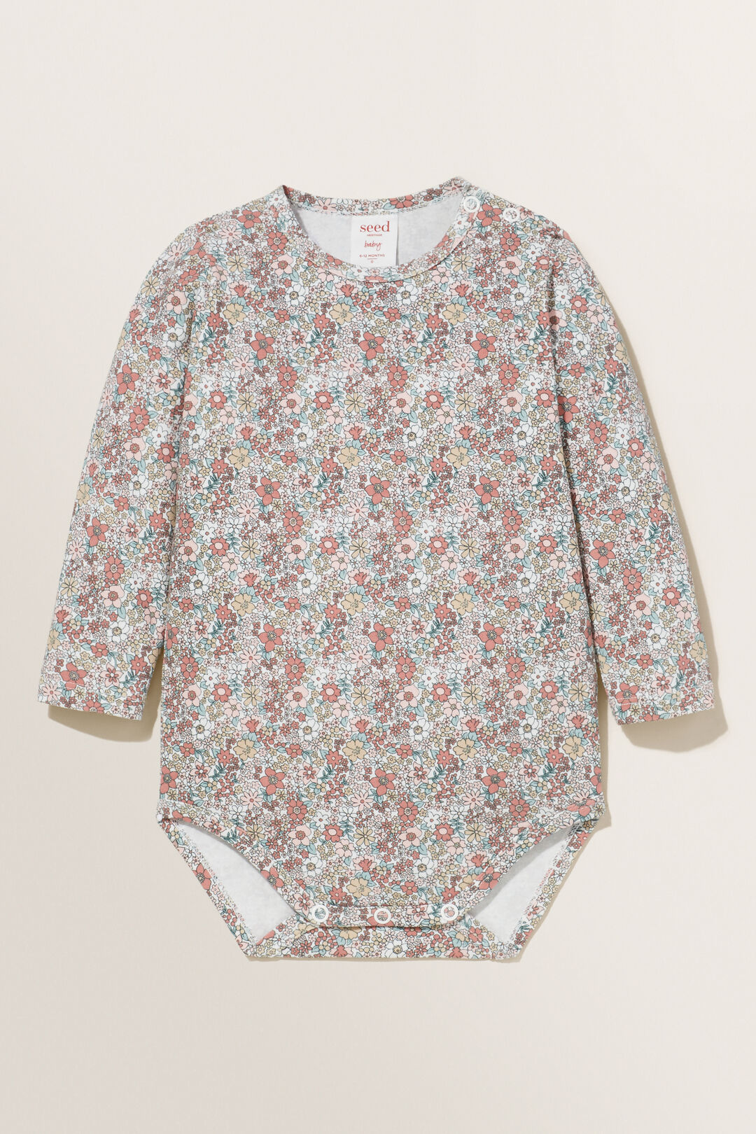 Floral Print Bodysuit  CANVAS  hi-res