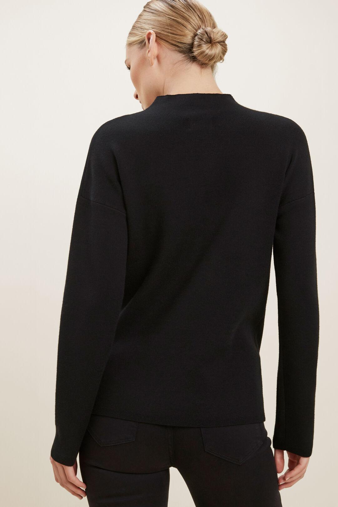 Mock Neck Sweater  BLACK  hi-res