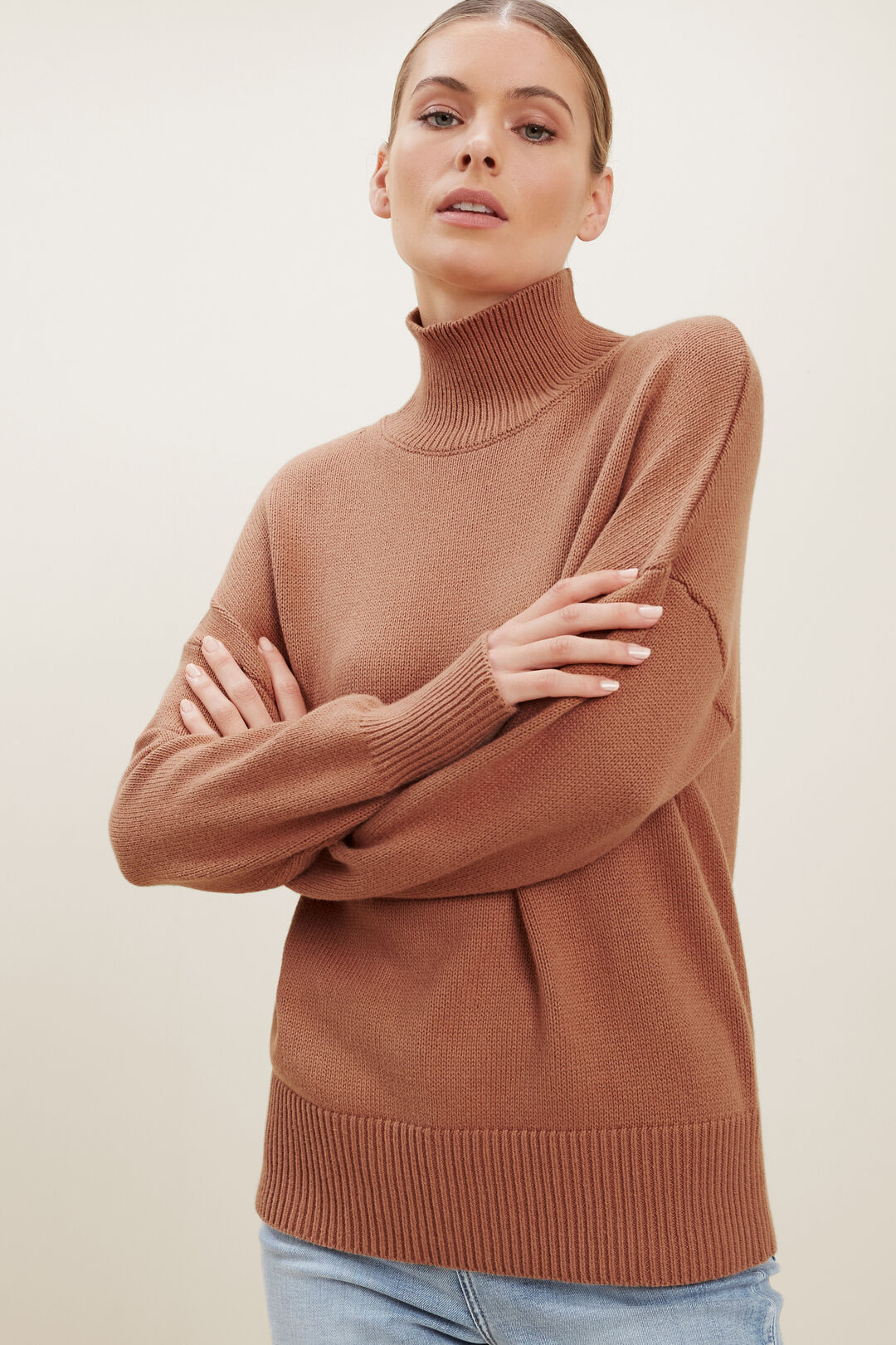 Turtleneck Sweater  BURNT SIENNA  hi-res