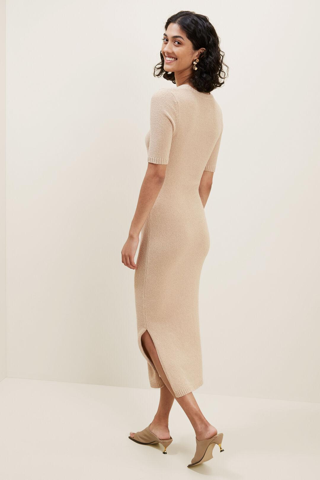 Boucle Longline Knit Dress  BISCOTTI  hi-res