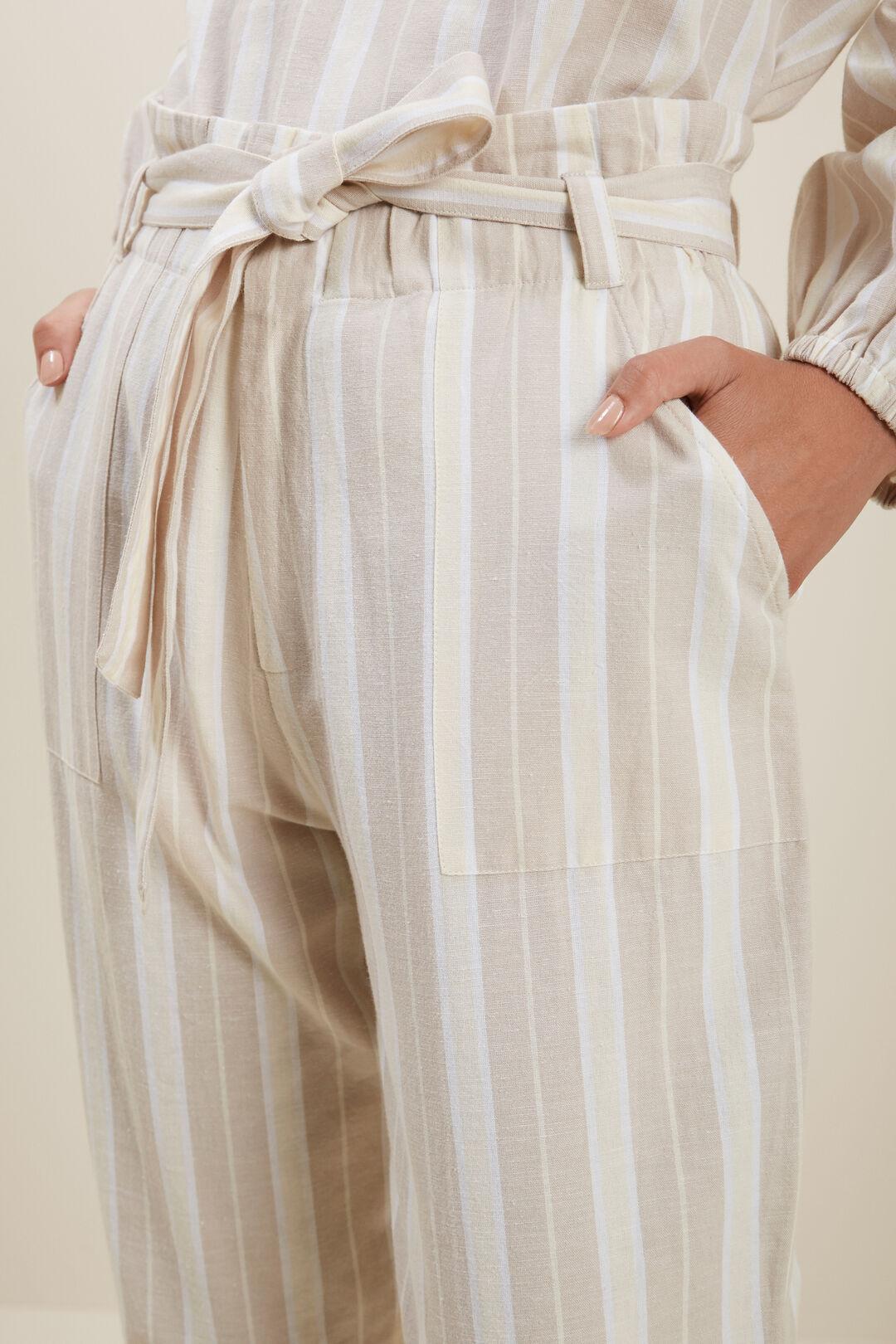 Stripe Casual Pant  HAZEL WOOD STRIPE  hi-res