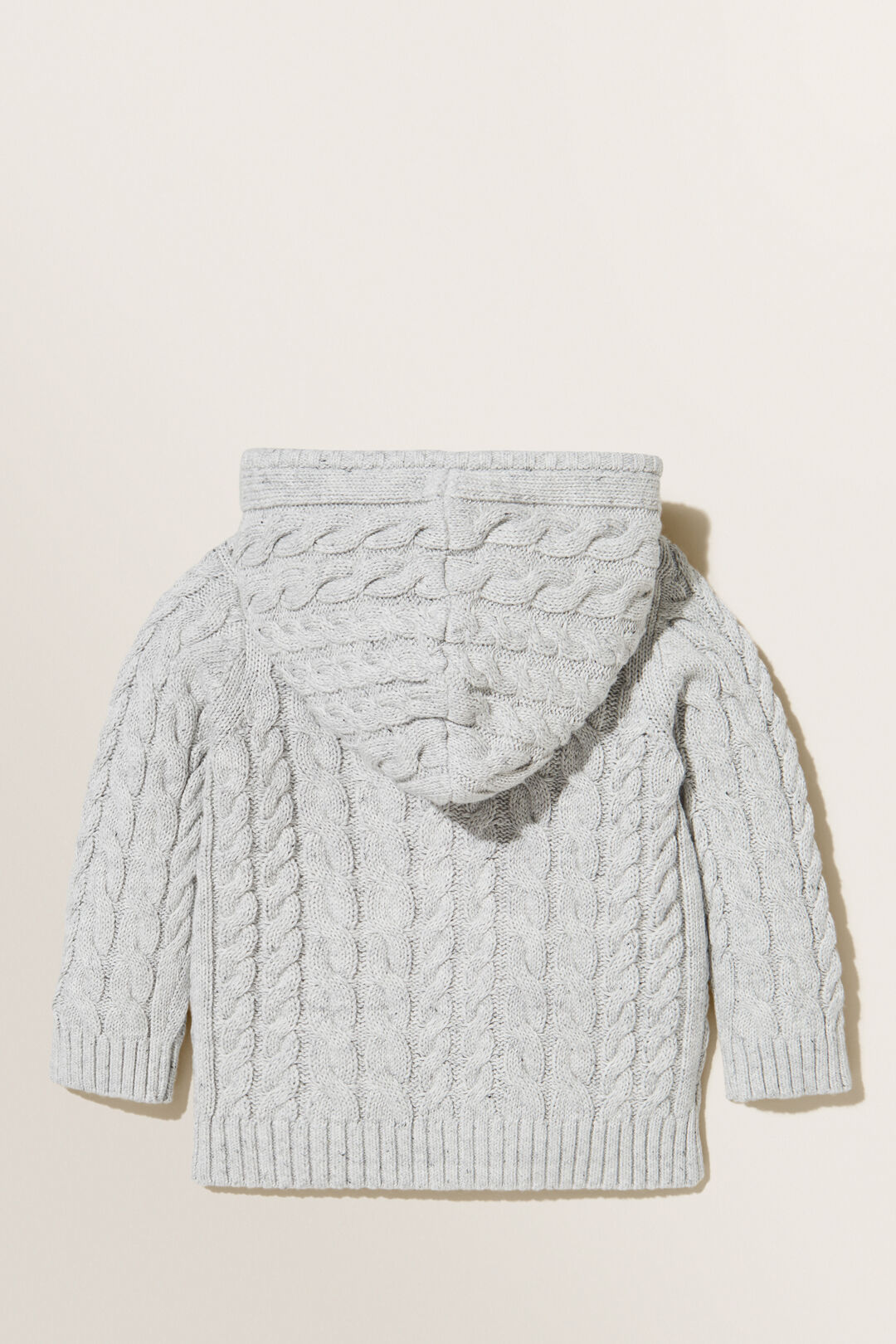 Cable Knitted Hoodie  CLOUDY MARLE  hi-res