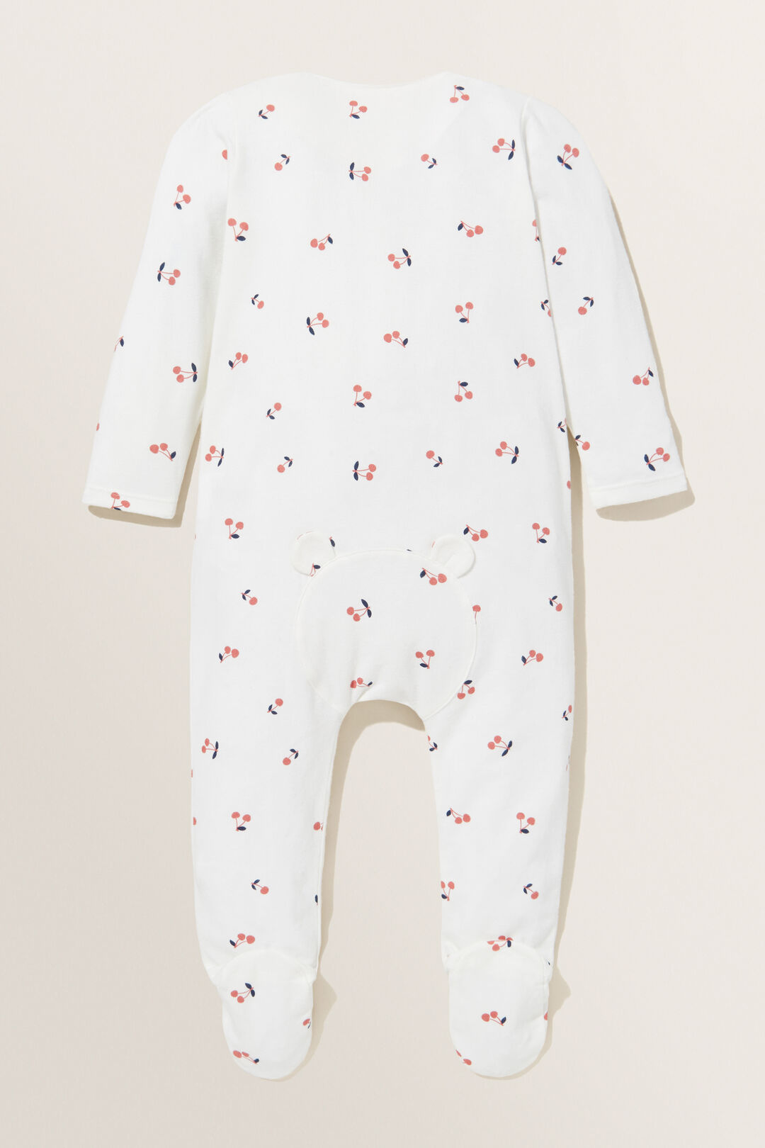 Footed Cherry Zipsuit  CANVAS  hi-res