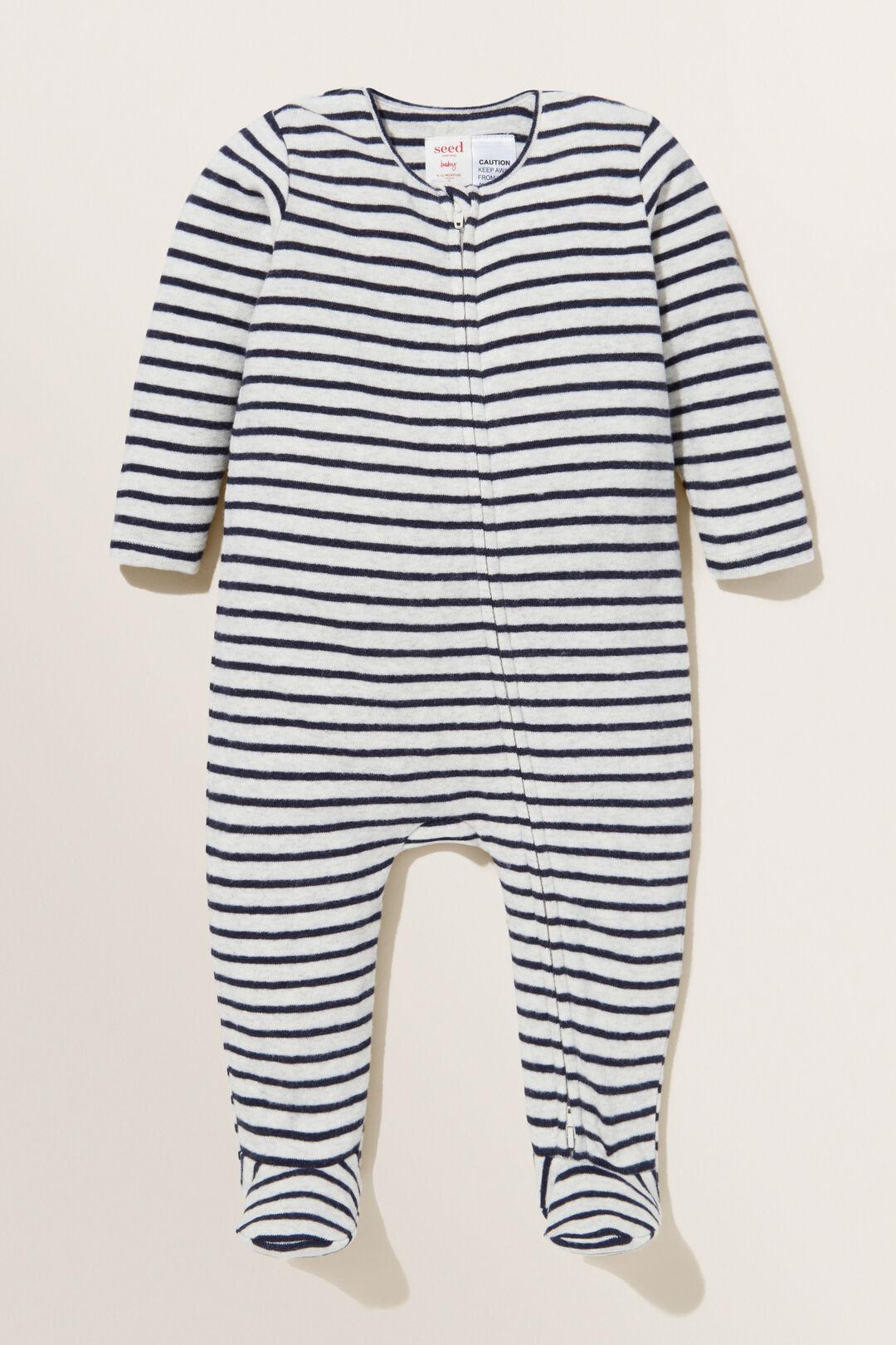 Brushed Stripe  Zipsuit  ICY MARLE  hi-res