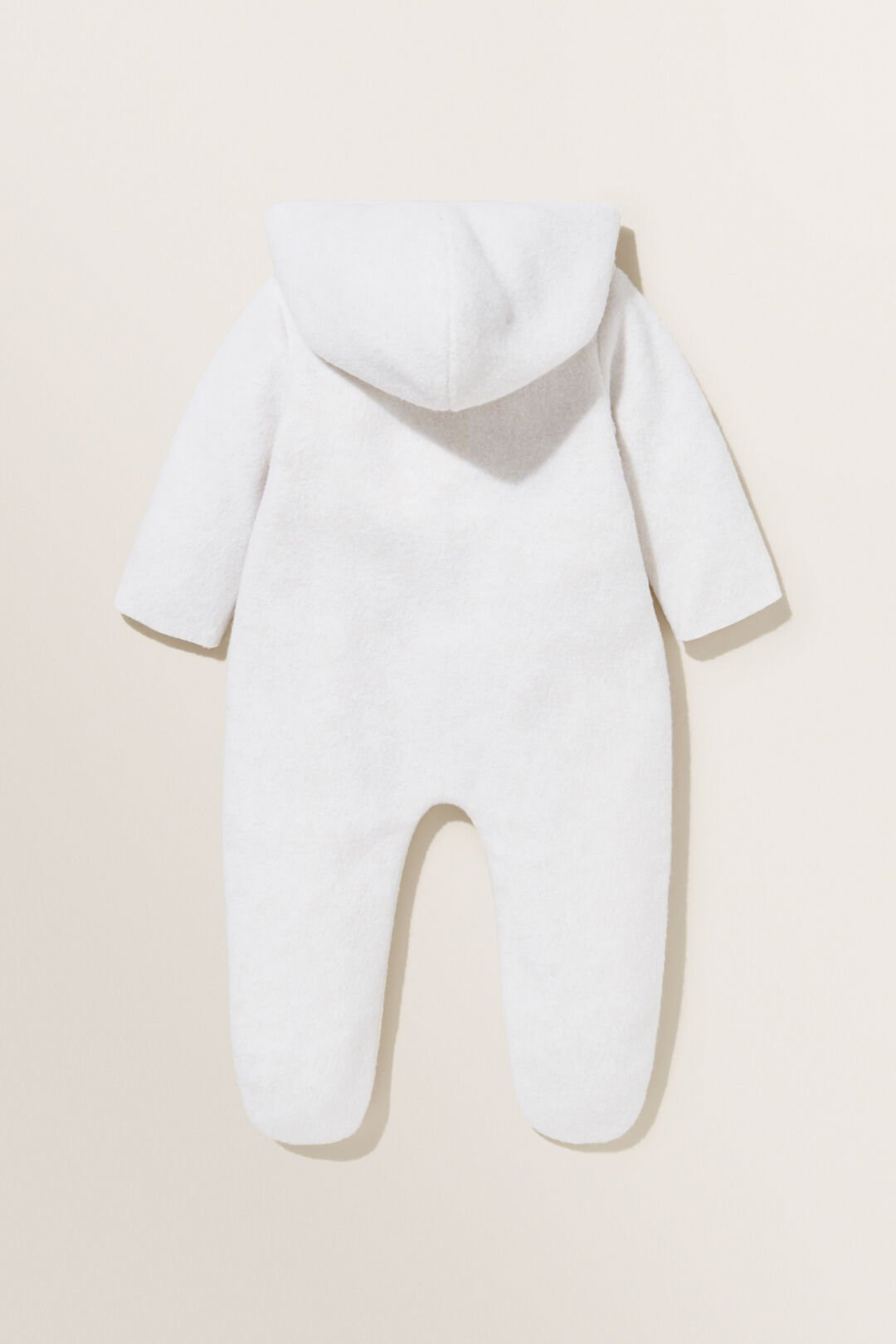 Hooded Fleece Coverall  SNOW  hi-res