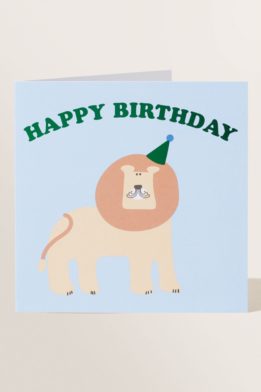 Large Lion Happy Birthday Card  MULTI  hi-res