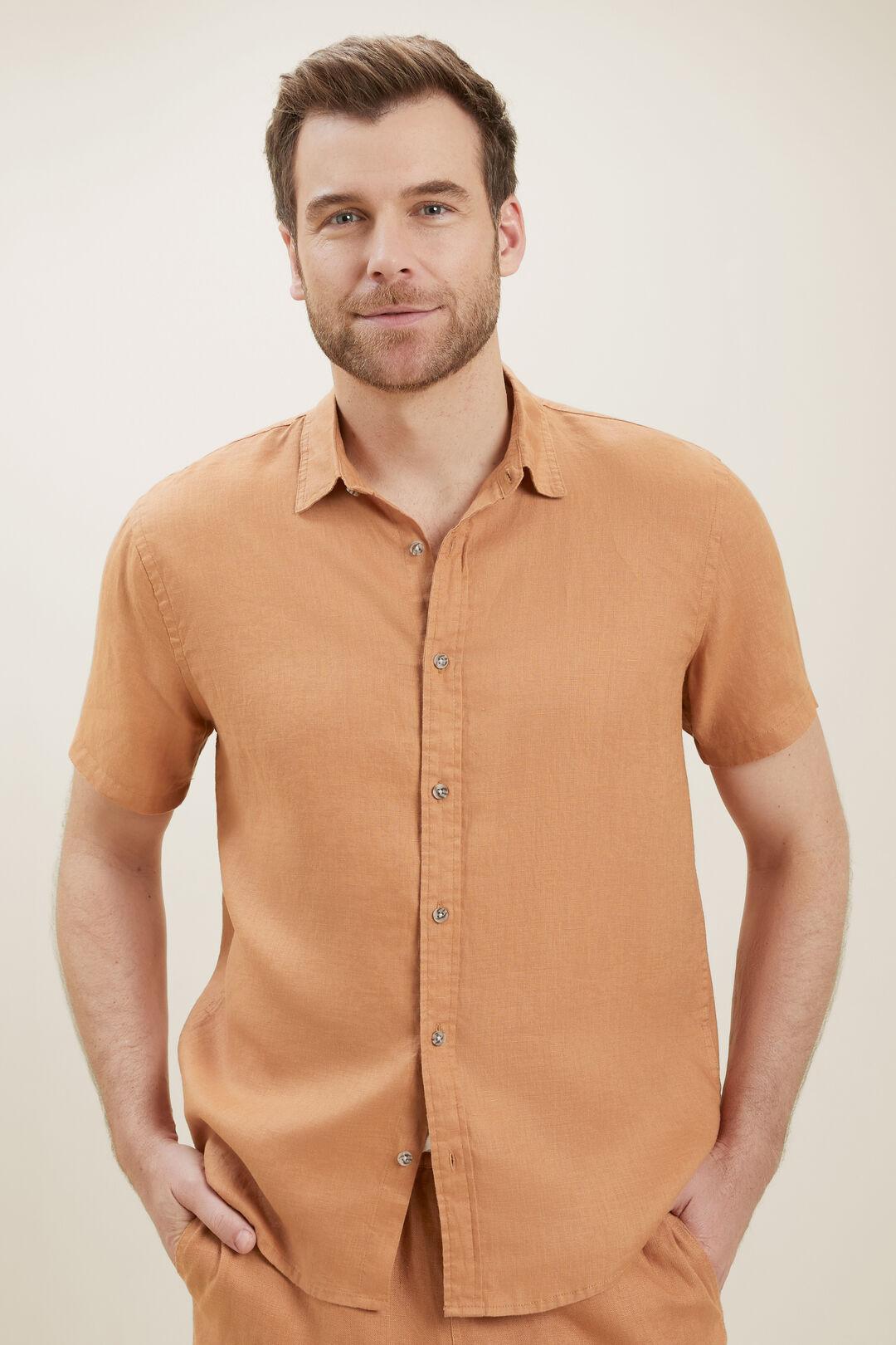 MensLinen Shirt  AMBER  hi-res