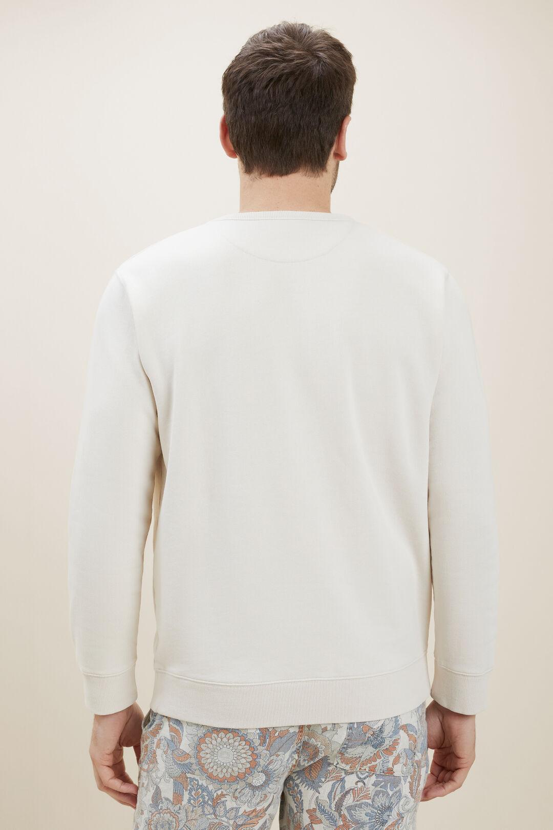 MensCotton Sweater  ECRU  hi-res