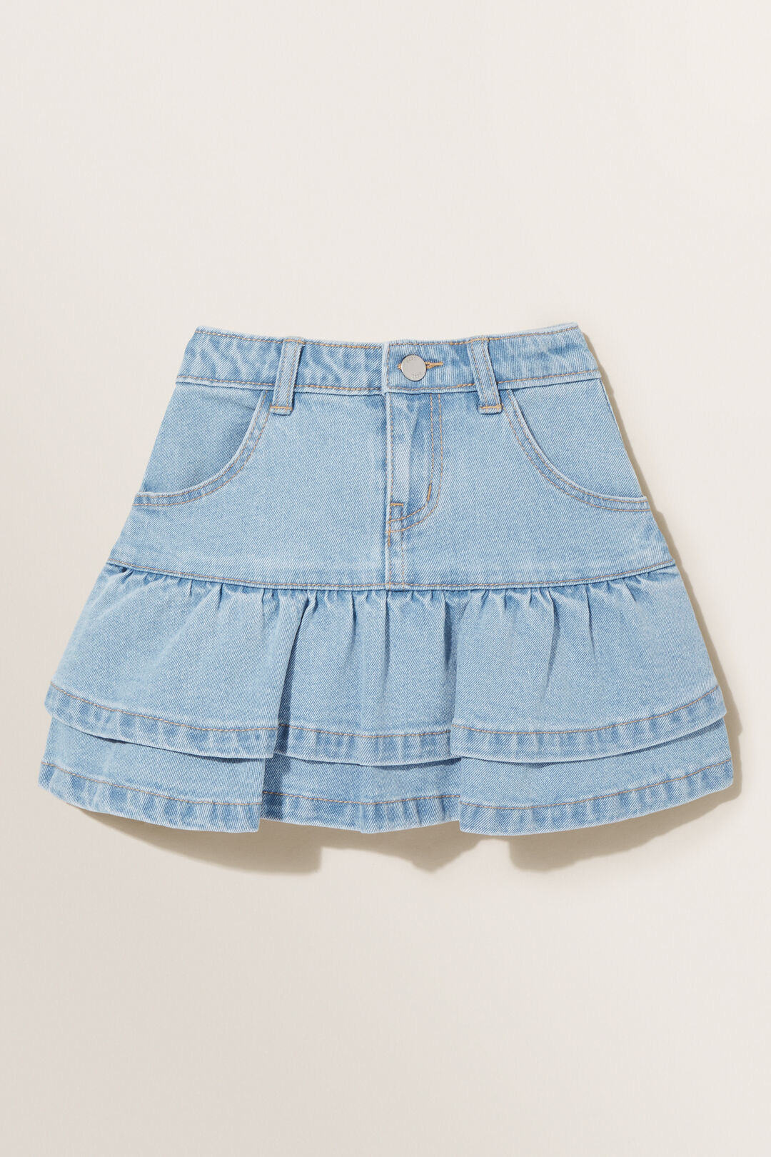 Denim Frill Skirt  CLASSIC WASH  hi-res