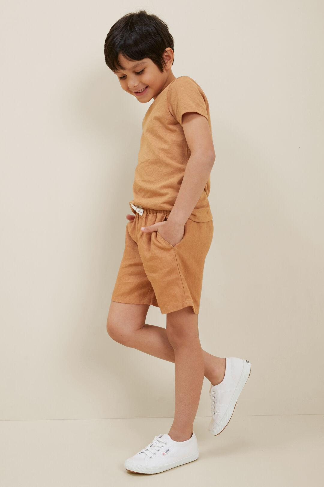Child LinenShorts  AMBER  hi-res
