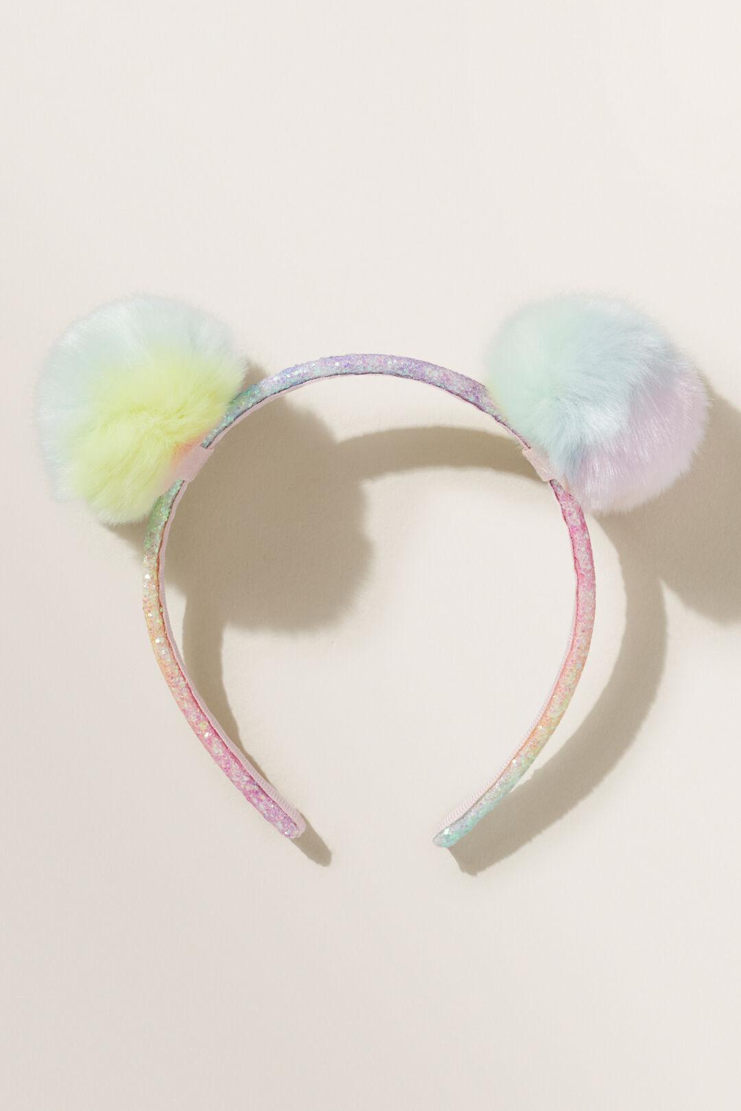 Pom Pom Headband  RAINBOW  hi-res