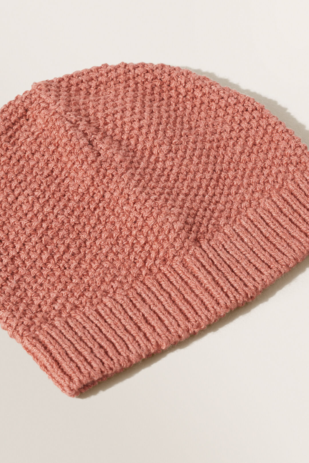 Textured Knit Beanie  FADED ROSE  hi-res