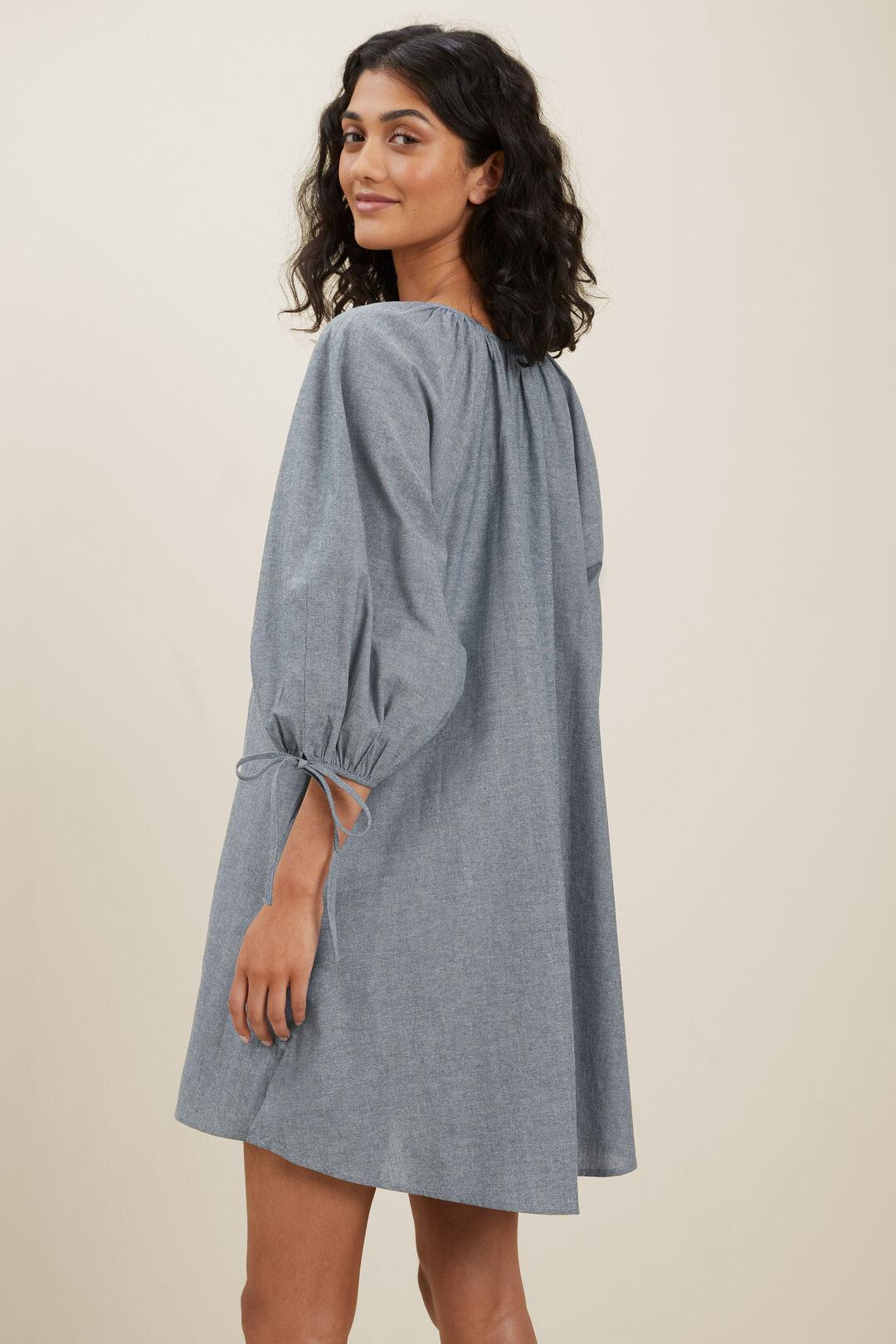 Sustainable Chambray Dress  EGGSHELL CHAMBRAY  hi-res