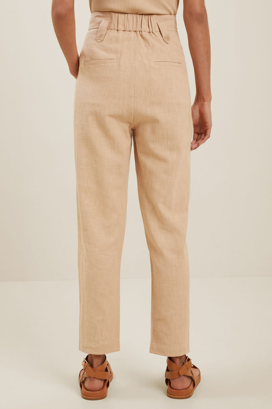 Textured Tapered Pant  NEUTRAL SAND  hi-res