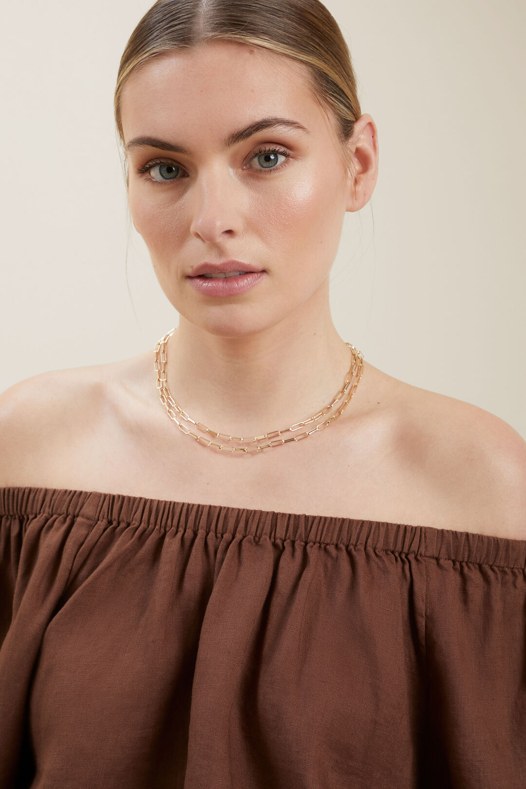 Chain Link Necklace  GOLD  hi-res