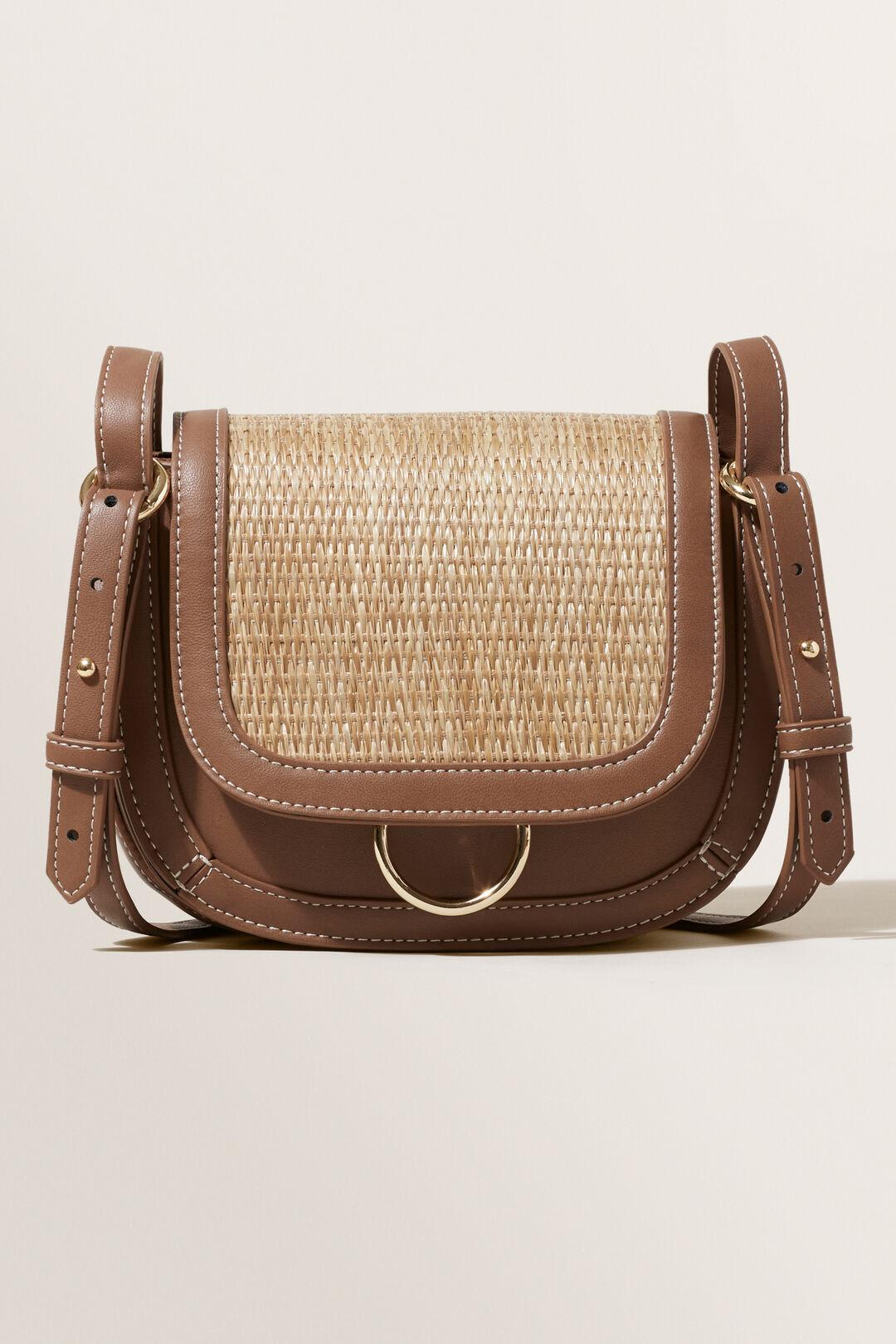 Straw Cross-Body Bag  CHOCOLATE  hi-res