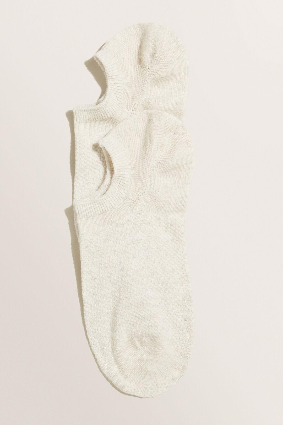 Textured Sneaker Sock  OATMEAL MARLE  hi-res