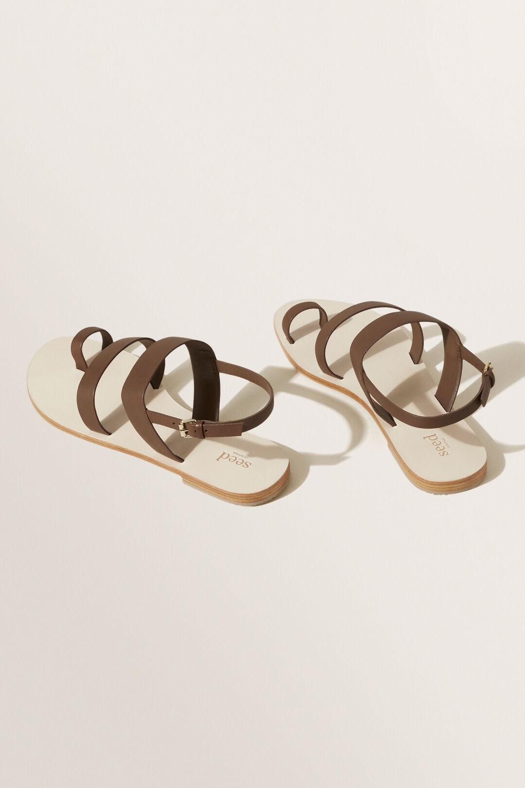 Ashley Leather Sandal  CHOCOLATE  hi-res