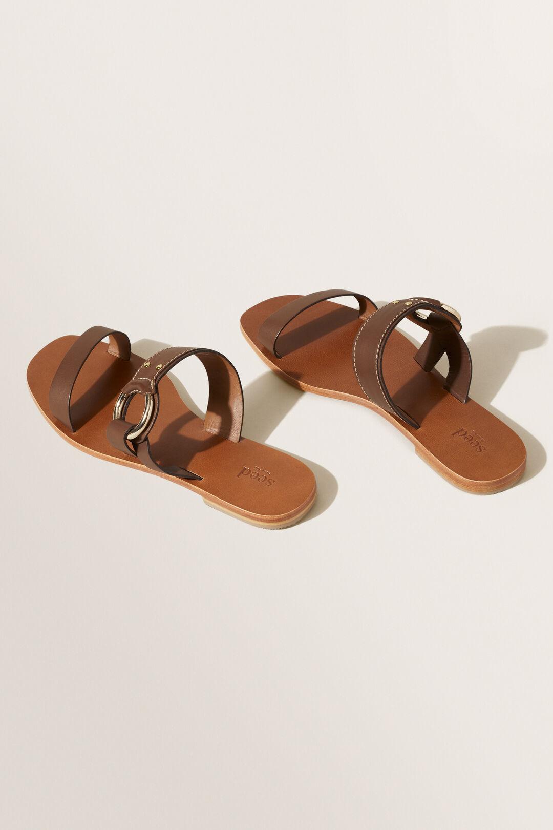 Mia Flat Sandal  CHOCOLATE  hi-res
