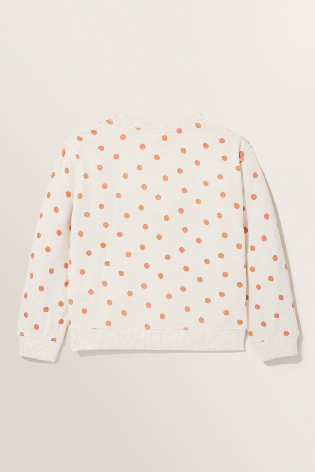 Spot Brushed Terry Sweater  OAT MARLE  hi-res