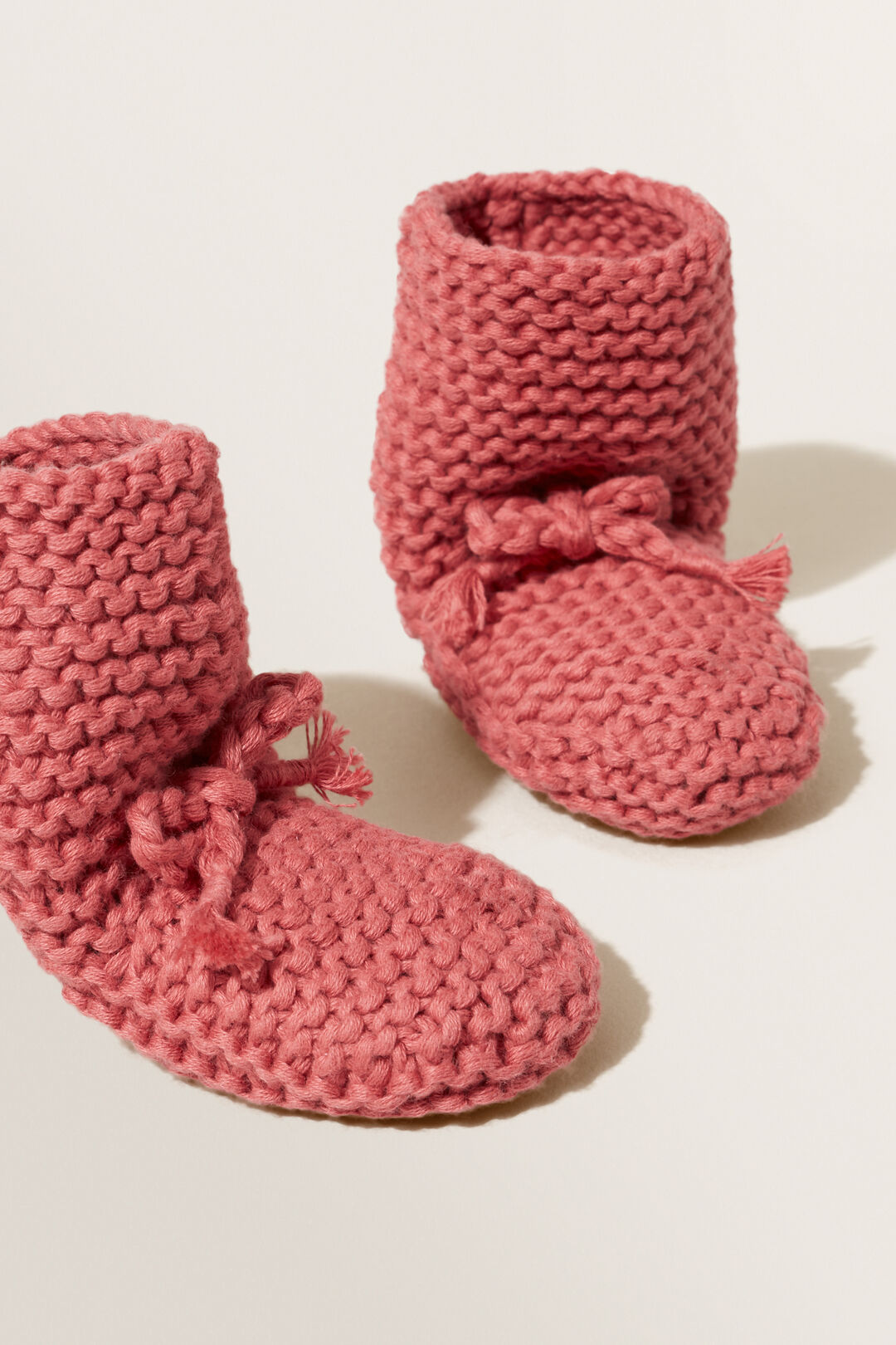 Pearl Knitted Bootie  STRAWBERRY JAM  hi-res