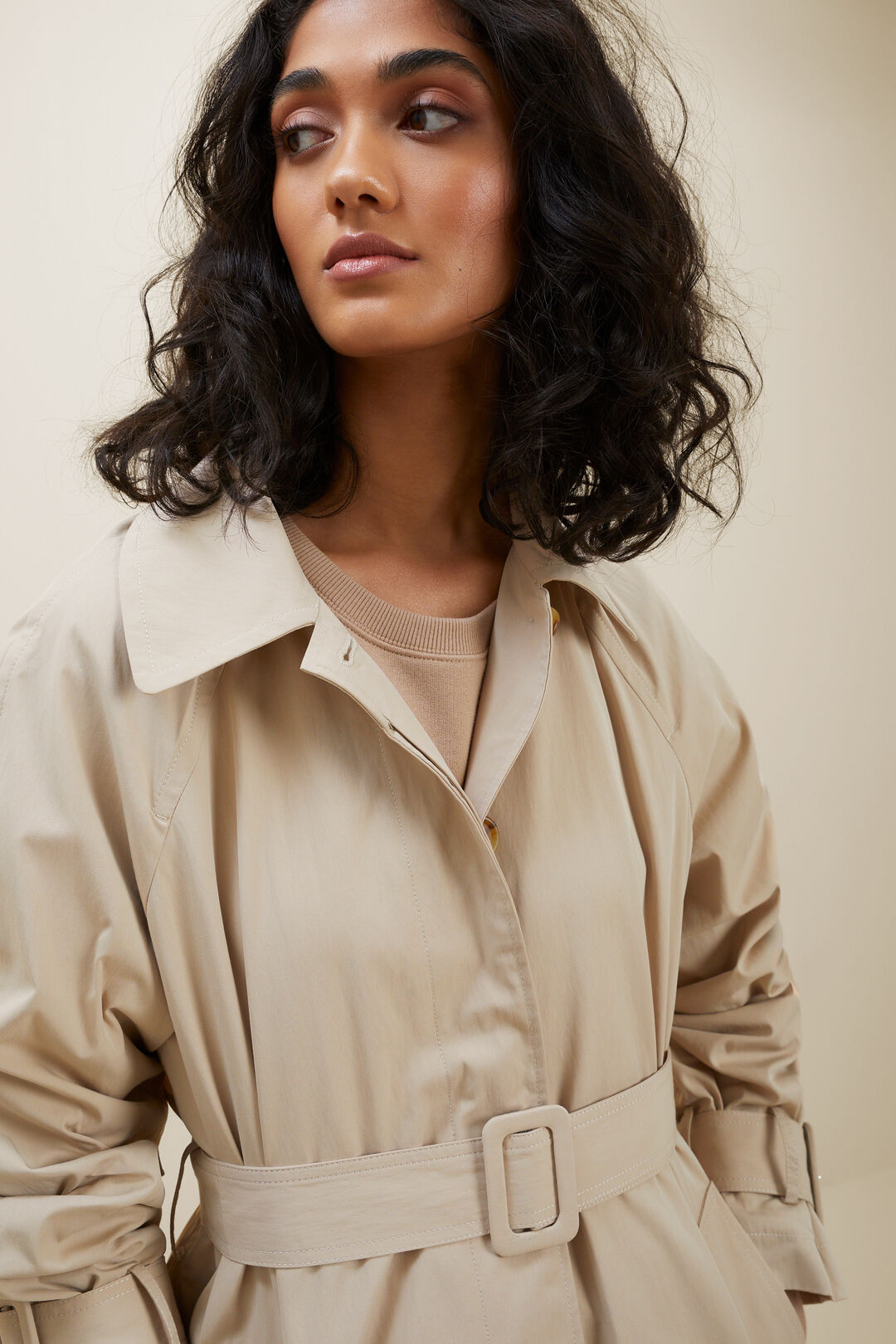 Oversized Trench Coat  COOL SAND  hi-res
