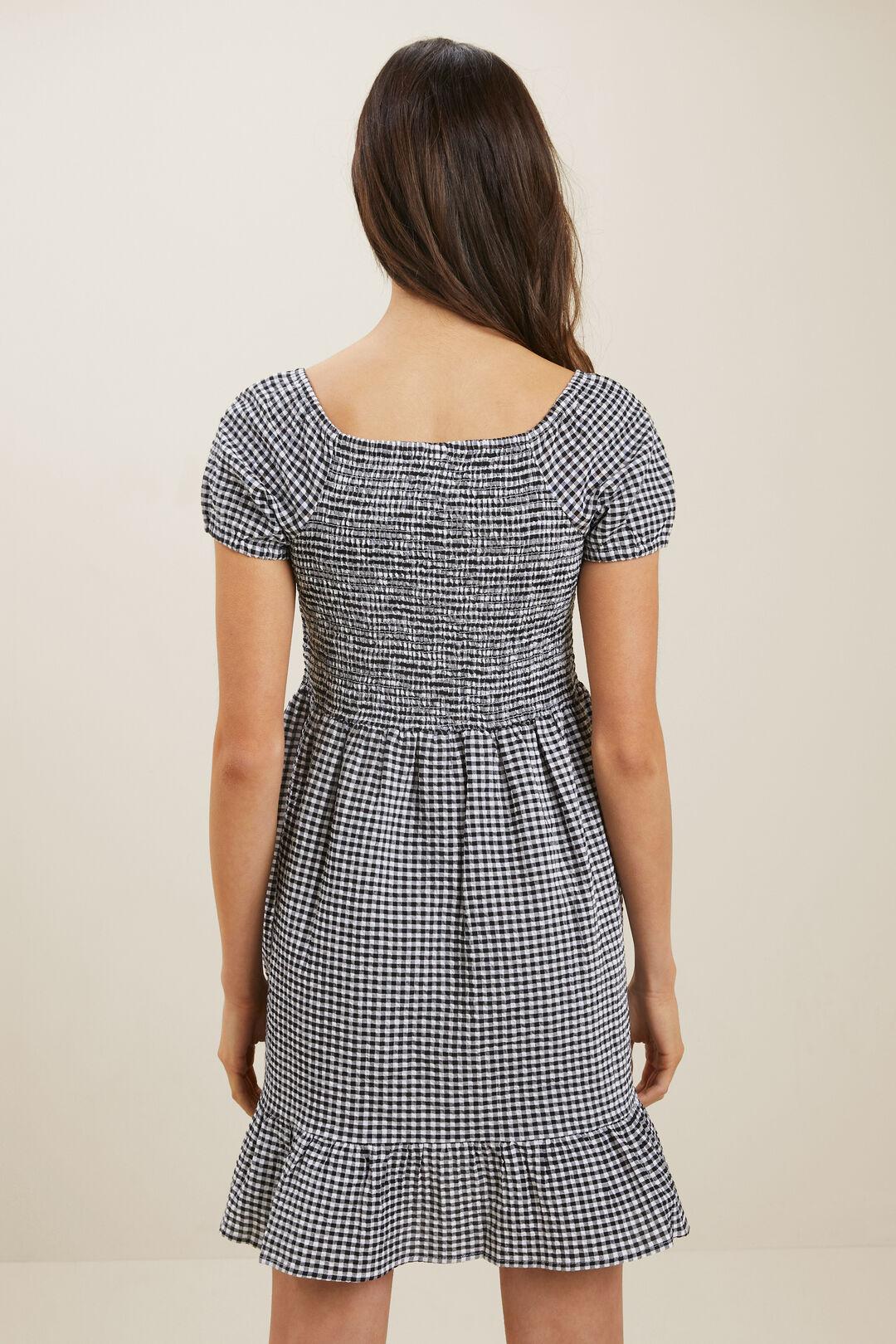 Gingham Dress  BLACK/WHITE  hi-res