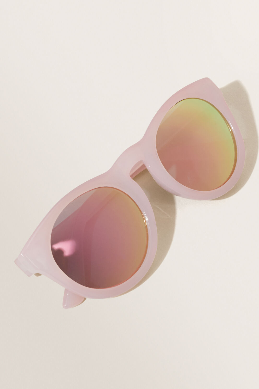 Pink Round Sunglasses  PINK  hi-res