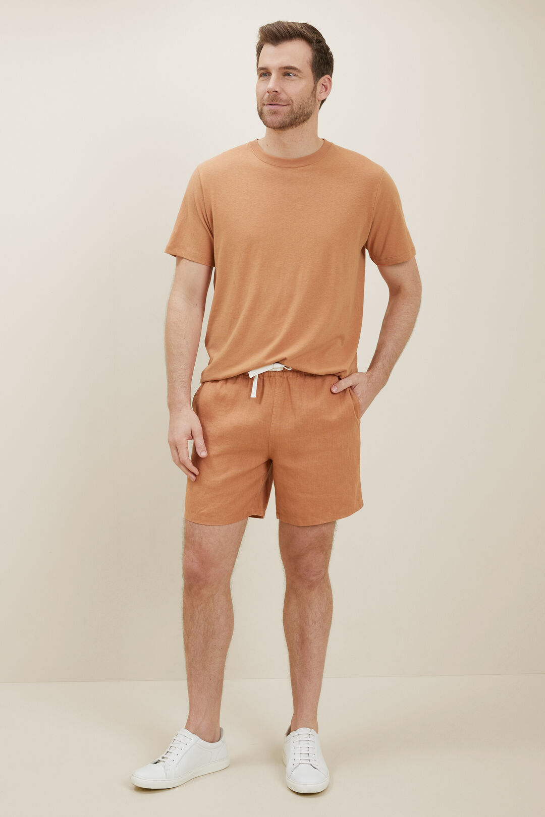 MensLinen Shorts  AMBER  hi-res